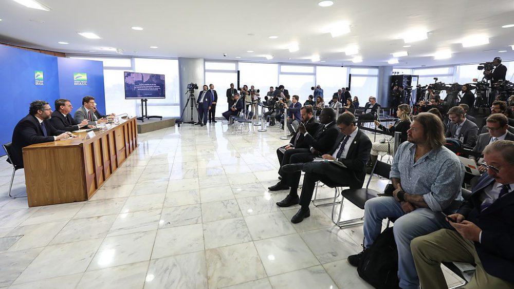 conférence presse Bolsonaro