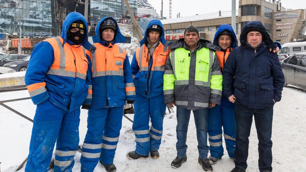 Uzbek Workers in St Petersburg